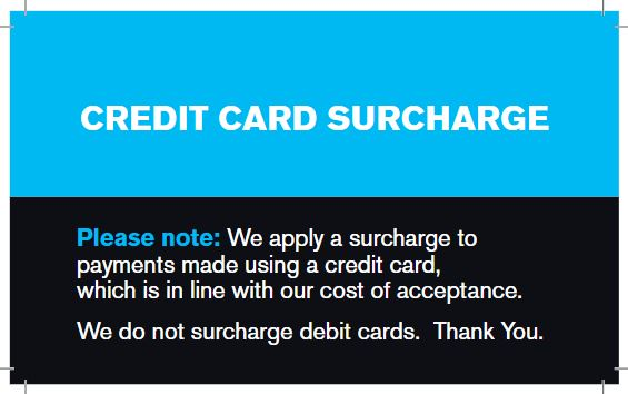 graphic relating to We Accept Credit Cards Printable Sign identified as Strategies for working with a credit history card surcharge