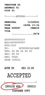 Paymark Network Pre-Auth Receipt