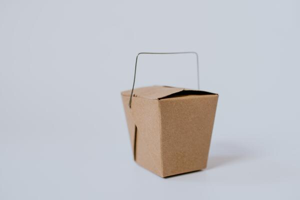 brown takeaway food box
